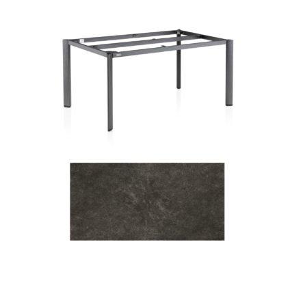 "Kettler Tischgestell 160x95cm ""Edge"", Aluminium eisengrau, mit Tischplatte Keramik anthrazit"