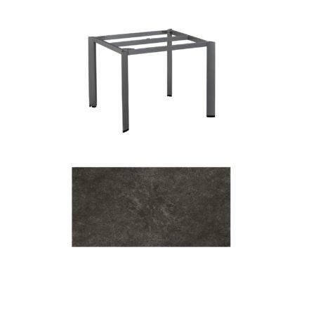 "Kettler Tischgestell 95x95cm ""Edge"", Aluminium eisengrau, mit Tischplatte Keramik anthrazit"