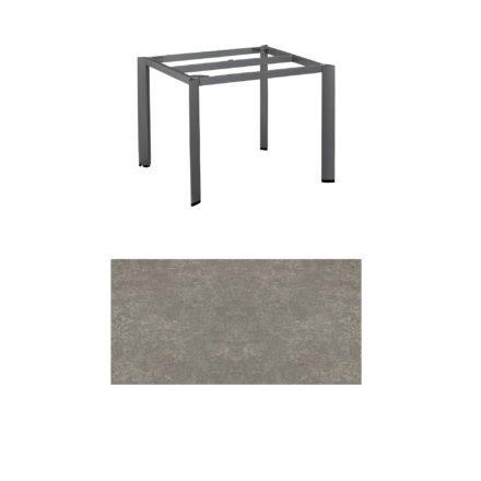 "Kettler Tischgestell 95x95cm ""Edge"", Aluminium eisengrau, mit Tischplatte Keramik grau-taupe"