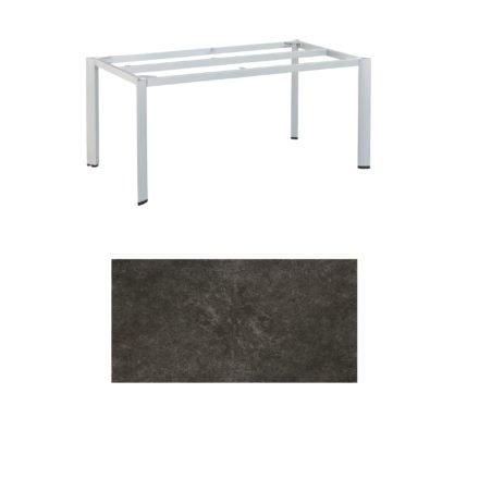 """Kettler Tischgestell 160x95cm """"Edge"""", Aluminium silber, mit Tischplatte Keramik anthrazit"""