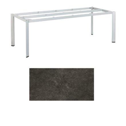 """Kettler Tischgestell 220x95cm """"Edge"""", Aluminium silber, mit Tischplatte Keramik anthrazit"""