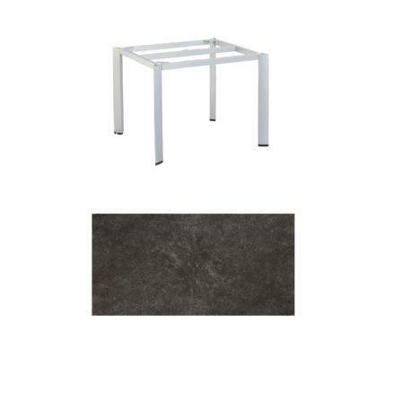 """Kettler Tischgestell 95x95cm """"Edge"""", Aluminium silber, mit Tischplatte Keramik anthrazit"""