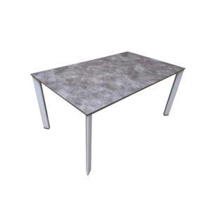 """Kettler """"Edge"""" Gartentisch, Gestell Aluminium silber, Tischplatte HPL anthrazit, 160x95 cm"""
