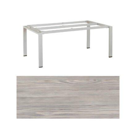 """Kettler Gartentisch """"Float"""", Gestell Aluminium platin, Tischplatte HPL olive grey, 160x95 cm"""
