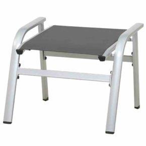 """Gartenhocker """"Core"""" von MWH, Gestell Aluminium silber, Textilgewebe grau"""