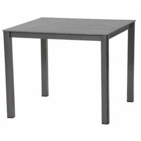"""Gartentisch """"Elements"""" von MWH, Gestell Aluminium anthrazit, Tischplatte creatop grau"""