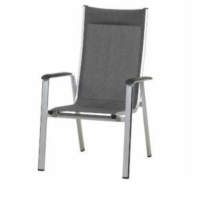 """Hochlehner """"Core"""" von MWH, Gestell Aluminium silber, Textilgewebe grau"""