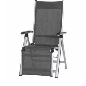"Relaxsessel ""Core"" von MWH, Gestell Aluminium silber, Textilgewebe grau"