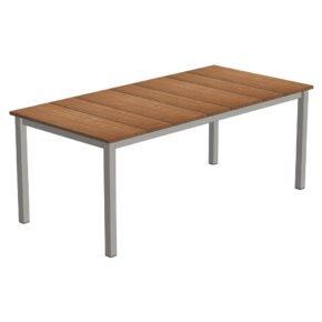"""Niehoff Gartentisch """"Nelson"""", Gestell Edelstahl, Tischplatte Teak, 195x95 cm"""