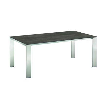 """Niehoff """"Newport"""" Ausziehtisch, Gestell Aluminium in Edelstahloptik, Tischplatte HPL Granit-Design"""