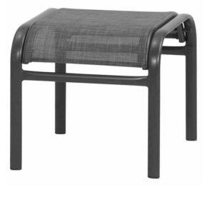 """Gartenhocker """"Livorno"""" von Siene Garden, Gestell Aluminium anthrazit, Textilgewebe silber-schwarz"""