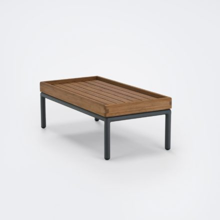 """Houe """"Level"""" Beistelltisch, Gestell Aluminium, Tischplatte Bambus"""