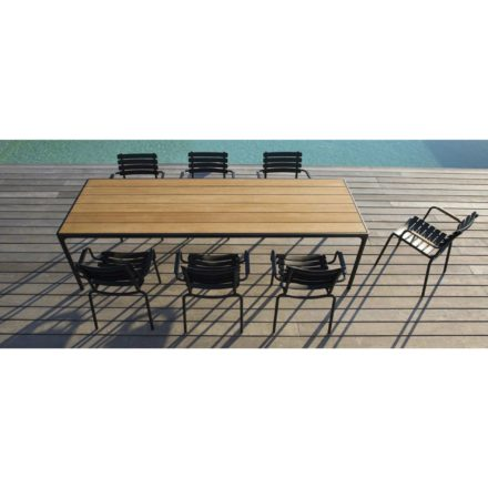 Houe Gartentisch Four, Bambus-Tischplatte, mit Stühlen Clips