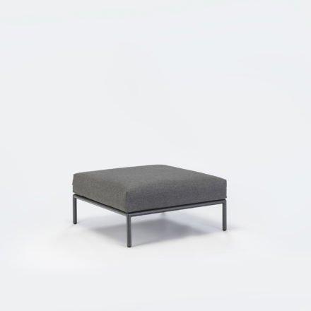 "Loungehocker ""Level"" von Houe, Gestell Aluminium, Textilgewebe grau"