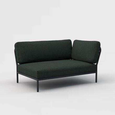 "Houe ""Level"" Lounge-Seitenteil rechts, Gestell Aluminium, Textilgewebe Sunbrella Heritage Alpine green"
