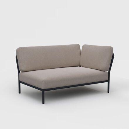 "Houe ""Level"" Lounge-Seitenteil rechts, Gestell Aluminium, Textilgewebe Sunbrella Heritage Ash"