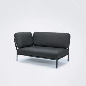 """Seitenteil links """"Level"""" von Houe, Gestell Aluminium, Textilgewebe grau"""