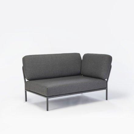 """Seitenteil rechts """"Level"""" von Houe, Gestell Aluminium, Textilgewebe grau"""