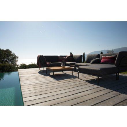 "Loungeserie ""Level"" von Houe, Gestell Aluminium, Textilgewebe grau"