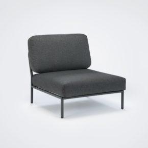 "Loungesessel ""Level"" von Houe, Gestell Aluminium, Textilgewebe grau"