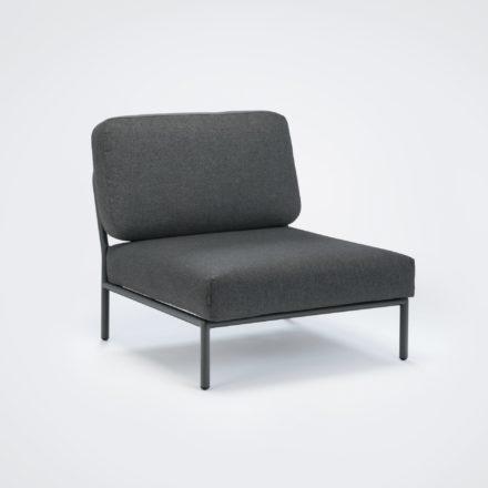 "Houe ""Level"" Loungesessel, Gestell Aluminium, Textilgewebe grau"