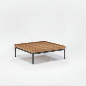 """Loungetisch """"Level"""" von Houe, Gestell Aluminium, Tischplatte Bambus"""