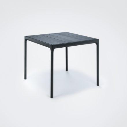 """Gartentisch """"Four"""" von Houe, Gestell Aluminium schwarz, Tischplatte Aluminium schwarz, 90x90 cm"""