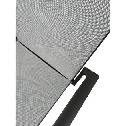 "Jati&Kebon Gartenstuhl ""Sevilla"", Gestell Aluminium eisengrau, Textilgewebe Leisuretex grau"