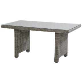 """Gartentisch """"Rio Cosy"""" von Four Seasons Taste, Geflecht Roca, Tischplatte Glas, Maße: 150 x 90 cm"""