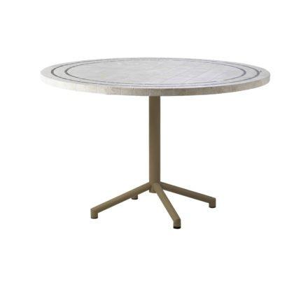"""Cane-line """"Avenue"""" Gartentisch, Gestell Aluminium taupe, Tischplatte Travertine"""
