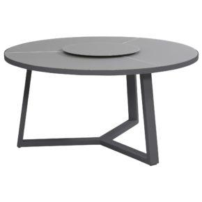 """Gartentisch """"Organic"""" von 4 Seasons Taste, Gestell Aluminium matt carbon, Tischplatte Glas"""