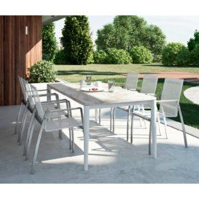 """Gartentisch """"Bellaria"""" von Zumsteg, Gestell aus Aluminium, Tischplatte Keramik"""