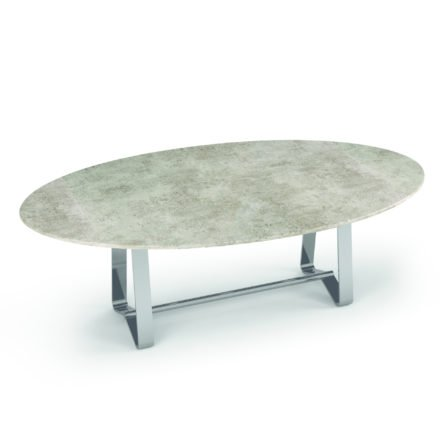 "Zumsteg Gartentisch ""Umbria"", Gestell Edelstahl, Tischplatte Keramik, oval"