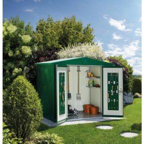 "Gerätehaus ""Europa"" von Biohort, Stahlblech dunkelgrün"