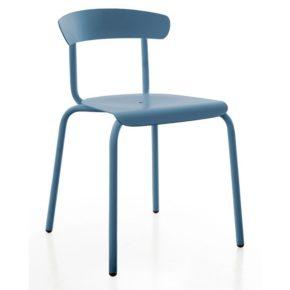 """Gartenstuhl """"Alu Mito"""" von Conmoto, Aluminium azurblau"""