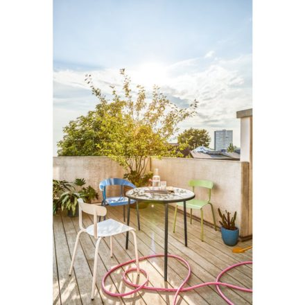 Gartenstuhl Alu Mito & Gartentisch Alu Mito von Conmoto, Stuhl stapelbar