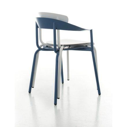 Gartenstuhl Alu Mito von Conmoto, Gestell Aluminium, Farbvarianten: azurblau & weiß