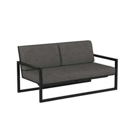 "Royal Botania ""Ninix 160"" 2-Sitzer Loungesofa, Gestell Aluminium schwarz, Bespannung Textilgewebe schwarz"
