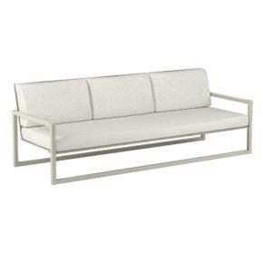 "Royal Botania ""Ninix 240"" 3-Sitzer Loungesofa, Gestell Aluminium sand, Bespannung Textilgewebe pearl grey"
