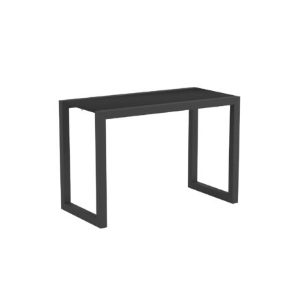 "Royal Botania ""Ninix 40S"" Loungetisch/Beistelltisch, Gestell Aluminium anthrazit, Tischplatte Keramik schwarz"