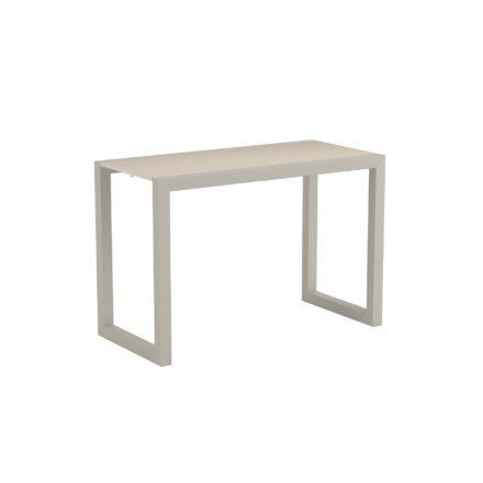 "Royal Botania ""Ninix 40S"" Loungetisch bzw. Beistelltisch, Gestell Aluminium sand, Tischplatte Keramik pearl grey"