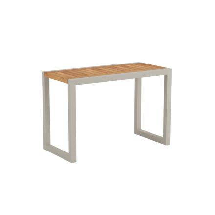 """Royal Botania """"Ninix 40S"""" Loungetisch bzw. Beistelltisch, Gestell Aluminium sand, Tischplatte Teakholz"""