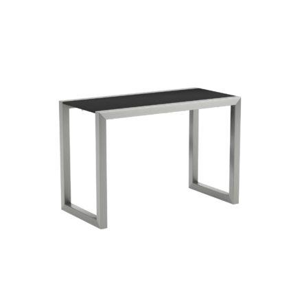"""Royal Botania """"Ninix 40S"""" Loungetisch bzw. Beistelltisch, Gestell Edelstahl, Tischplatte Keramik schwarz"""