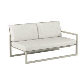 "Royal Botania ""Ninix 160"" 2-Sitzer-Seitenteil links, Gestell Aluminium sand, Bespannung Textilgewebe pearl grey"