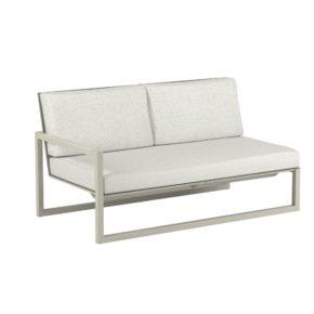 "Royal Botania ""Ninix 160"" 2-Sitzer-Seitenteil rechts, Gestell Aluminium sand, Bespannung Textilgewebe pearl grey"