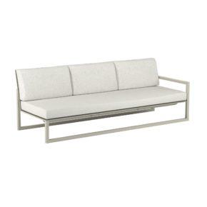 "Royal Botania ""Ninix 240"" 3-Sitzer-Seitenteil links, Gestell Aluminium sand, Bespannung Textilgewebe pearl grey"