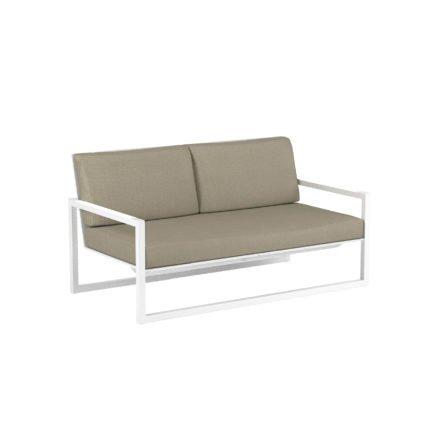 "Royal Botania ""Ninix 160"" Loungesofa, Gestell Aluminium weiß, Bespannung Textilgewebe weiß"