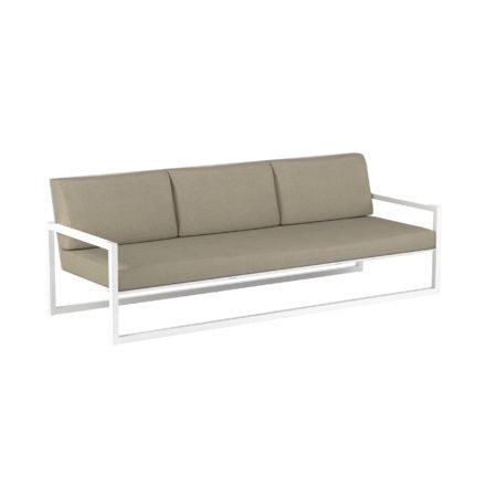 "Royal Botania ""Ninix 240"" 3-Sitzer Loungesofa, Gestell Aluminium weiß, Bespannung Textilgewebe weiß"