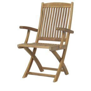 """Zebra Gartenstuhl """"Bali"""", Gestell sowie Sitz- und Rückenfläche aus Teakholz"""