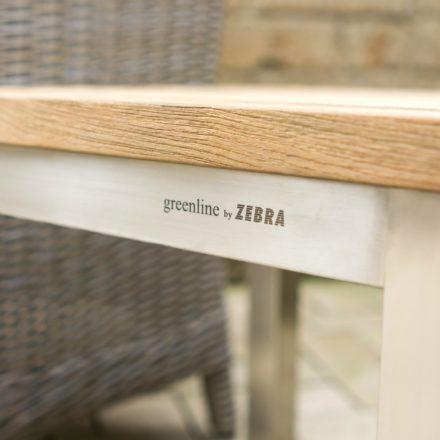 "Zebra ""Naxos"" Gartenhocker, Gestell Edelstahl, Sitzfläche recyceltes Teakholz"